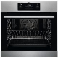 AEG BES25101LM Built In Electric Steam Bake Single Oven - Stainless Steel - A Energy Rated