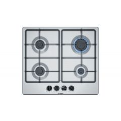 Bosch PGP6B5B60 Bosch Gas Hob Cast Iron Supports-Stainless Steel