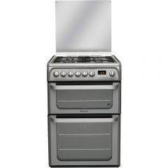 Hotpoint HUD61GS Double Oven Dual Fuel Cooker ( Graphite )