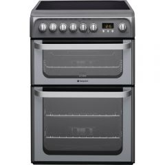Hotpoint HUE61G Ceramic Double Oven 60Cm ( Graphite )