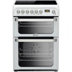 Hotpoint HUE61PS Ceramic Electric Double Oven 60Cm