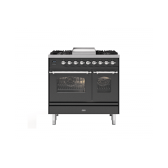 ILVE PD09FNE3/ 90Cm Dual Fuel Milano Range Cooker, 4 Gas Burners + Fry Top
