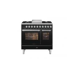 ILVE PD09FWE3/ 90Cm Dual Fuel Roma Range Cooker, 4 Gas Burners & Fry Top