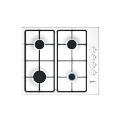 Neff T26BR46W0 60Cm Gas Hob 4 Burners, Cast Iron Supports.