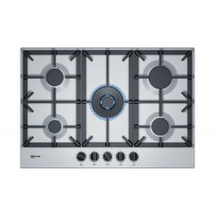 Neff T27DS59N0 75Cm, 5 Burner, 4.0Kw Wok Burner, Cast Iron Supports, Flameselect, Star Layout