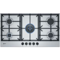 Neff T29DS69N0 90cm, 5 burner, 5.0kW Wok burner, Cast Iron supports, FlameSelect, star layout