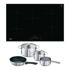 Neff T48FD23X2KIT 80Cm Induction Hob, Touch Control, Combizone,5 Zones