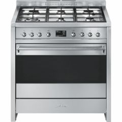 Smeg A1-9 90Cm Dual Fuel Opera Range Cooker, Stainless Steel