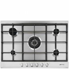 Smeg P272XGH 70Cm 5 Burner Gas Hob With New Style Cucina Control Knobs