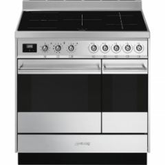 Smeg SY92IPX9 90Cm Induction Symphony Range Cooker, Pyrolytic